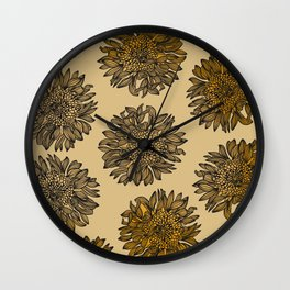 Sunflower Pattern #society6 Wall Clock