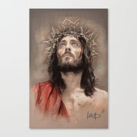 jesus Canvas Prints featuring Jesus  by Melanie D