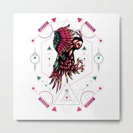 The mythical Owl sacred geometry Metal Print