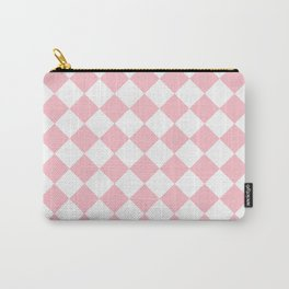 Diamonds - White and Pink Carry-All Pouch