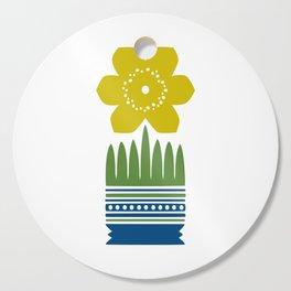 Nordic Yellow Flower Cutting Board