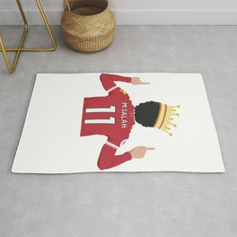 Mo Salah Egyptian King Liverpool Rug
