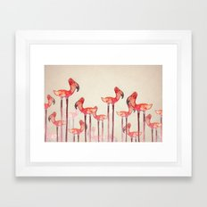 Transmogrified Flamingo Colony Framed Art Print