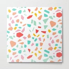 Modern Terrazzo Vector Pattern Metal Print