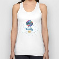 tolkien Tank Tops featuring The World Is Out There; The Hobbit, J.R.R. Tolkien by astoldbycaro