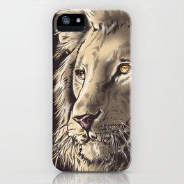 Lion Illustration  iPhone Case