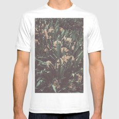 Jungle Blooms Mens Fitted Tee White MEDIUM