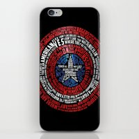 steve rogers iPhone & iPod Skins featuring Who is Steve Rogers? by dailymantra