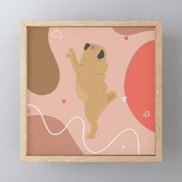Valentine's Pug Dance Framed Mini Art Print