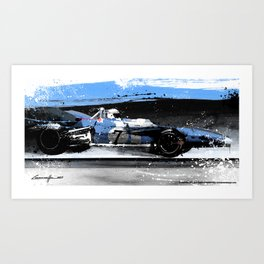 Jacky Stewart Matra Ford MS10 1969 Art Print