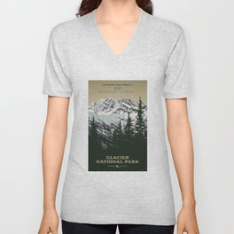 Glacier National Park Unisex V-Neck