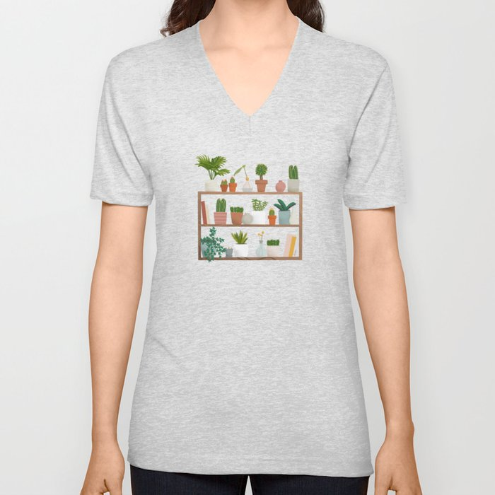 Plant Mama Shelfie Unisex V-Neck