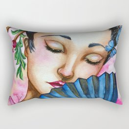 pink geisha Rectangular Pillow