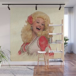Dolly Parton - Watercolor Wall Mural