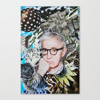 woody allen Canvas Prints featuring Woody Allen by John Turck