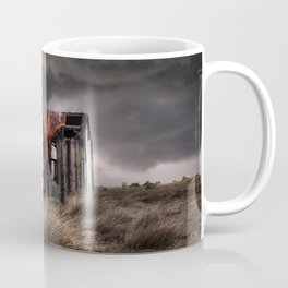 Old forgotten shade with red fish net Coffee Mug