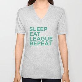 Eat League Sleep Repeat Unisex V-Neck