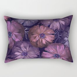 Pink and violet poppies Rectangular Pillow