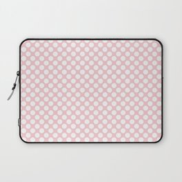 Large White Spots On Millennial Pink Pastel Laptop Sleeve