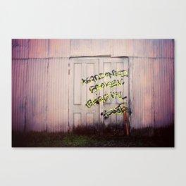 Abandoned. Broken. Beautiful. Canvas Print