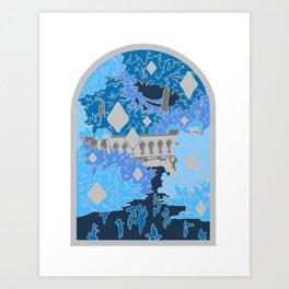 Moonlight Garden Art Print