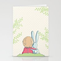 best friends Stationery Cards featuring Best friends by Rabbits In The Sky