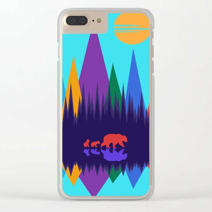 Bear & Cubs #3 Clear iPhone Case