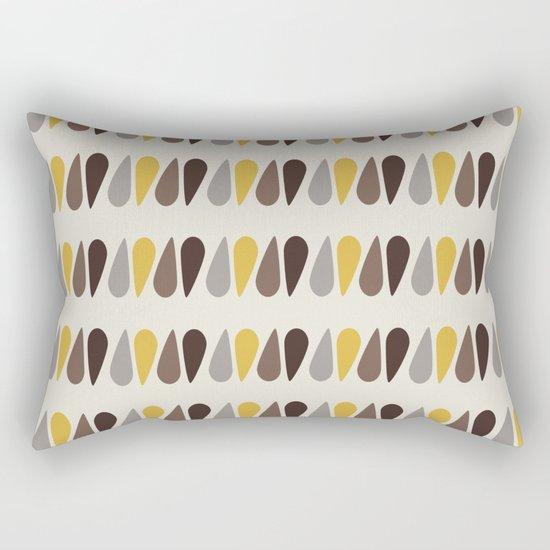 Pattern black brawn yellow Rectangular Pillow