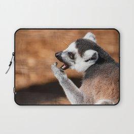 Ring tail lemur eating Laptop Sleeve