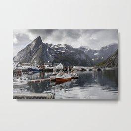 Lofoten Islands, Norway Mountain Landscape Metal Print