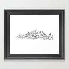 Panoramic Drawing of Brighton Framed Art Print