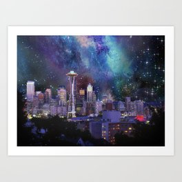 Spacey Seattle Art Print