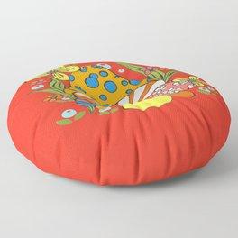 Retro Mushroom Floor Pillow