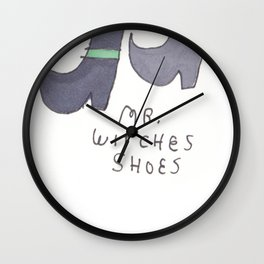 MR WITCHES SHOES. Wall Clock