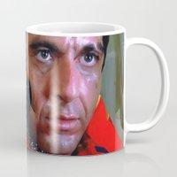 scarface Mugs featuring Al Pacino @ Scarface #1 by Gabriel T Toro