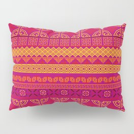 african ethnic red and yellow pattern Pillow Sham