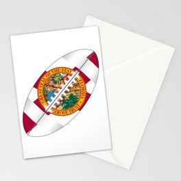 Florida USA Football Ball Flag Stationery Cards