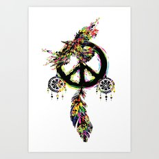 Peace dream cather Art Print