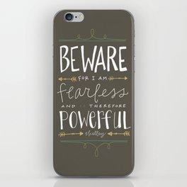 Fearless iPhone Skin