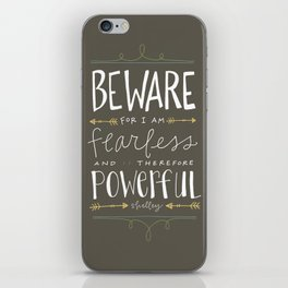 Fearless iPhone Skin