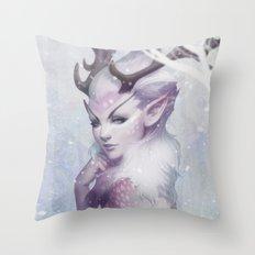 Reindeer Princess Throw Pillow
