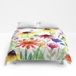 Summer Wildflowers Comforters