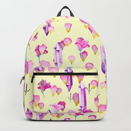 Crystals And Flowers Pattern Backpack