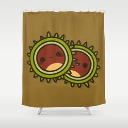 Cute Conkers Shower Curtain