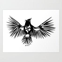 Clockwork - Black Art Print