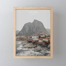 Lofoten, Norway Artwork Framed Mini Art Print