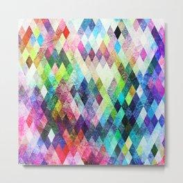 Diamond Bright Painted Design Metal Print