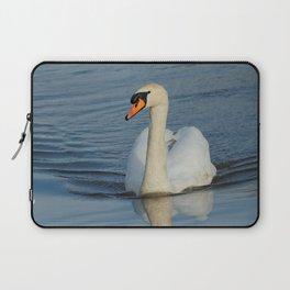 Elegant Mute Swan in the Harbor Laptop Sleeve