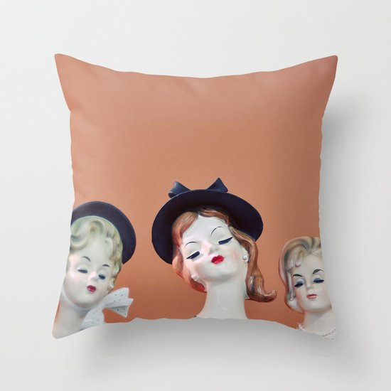 Ladies Who Lunch Throw Pillow