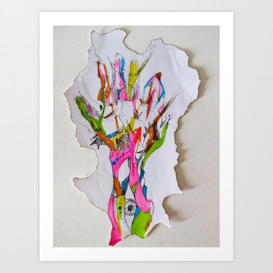 Abstract Hand Art Print